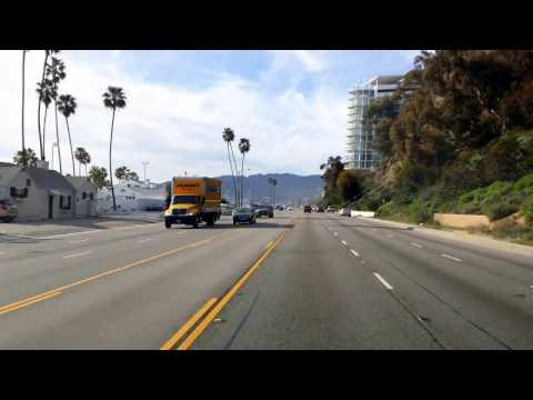 Santa Monica getting onto PCH toward Malibu