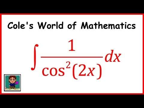 Integral of 1/cos^2 (2x) ❖ Calculus 1 ❖ Trig Integrals