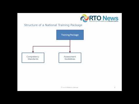 RTO - What is a National Training Package ?