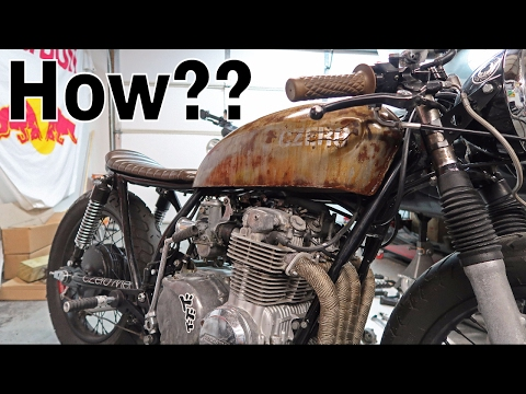 How to RUST and SEAL a Gas Tank - Patina Look! - Honda CB550 Cafe Racer Build Pt. 72