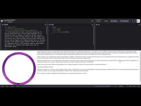 Get a text around a round image - demo