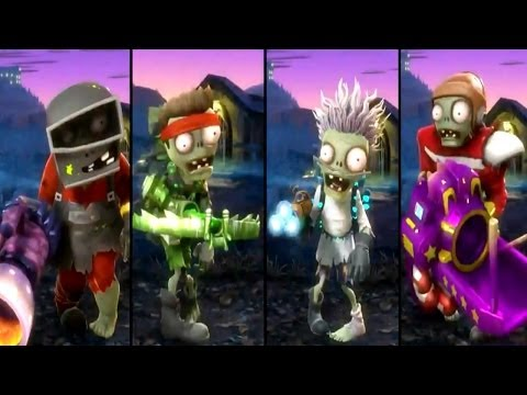 Plants vs Zombies Garden Warfare - All Zombies Unlocked / All Characters