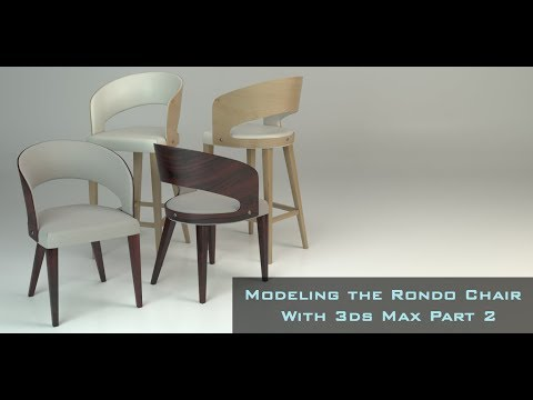 Modeling the Rondo Chair in 3ds Max Part 2