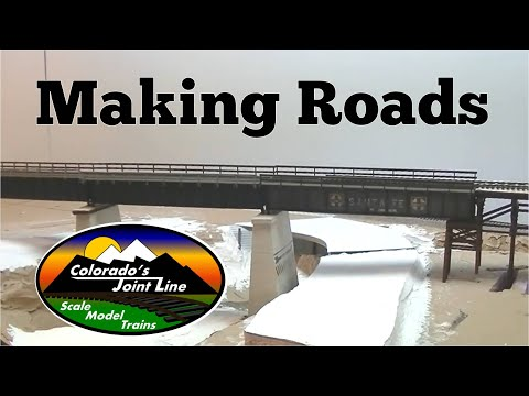 Model Railroad Layout Road Techniques and Layout Update