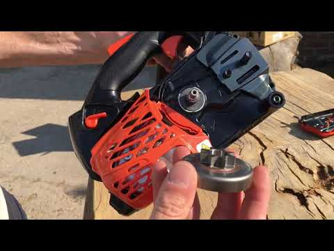 Quick and easy chainsaw sprocket change on an Echo CS-2511TES