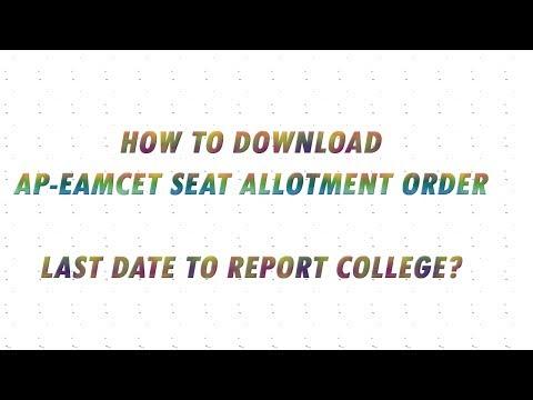 ap Eamcet SEAT allotment order 2017 download process, how to download ap eamcet allotment order