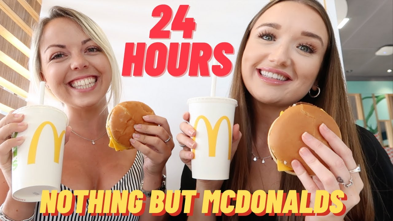 24 HOURS EATING NOTHING BUT McDONALDS ... arguments in the drive thru