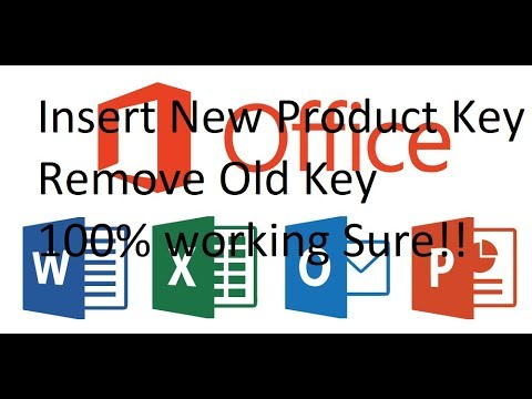 Microsoft Office How to Insert or Remove Product Key easy!