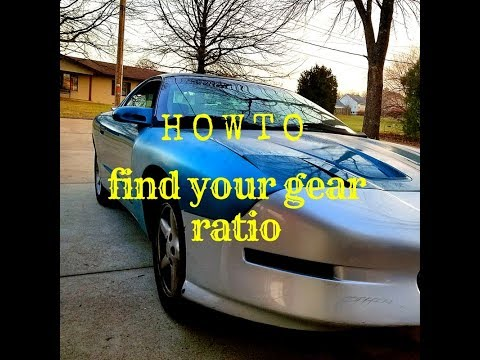 How to find your rear end gear ratio
