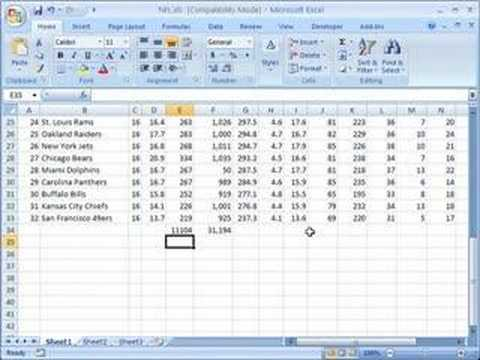 Perform mathematical operations on groups of cells in Excel