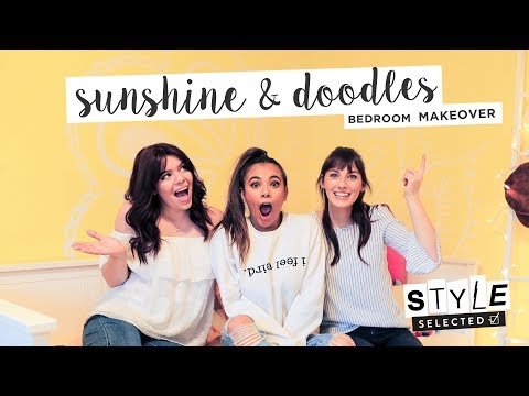 A YELLOW BEDROOM MAKEOVER ft. Adelaine Morin | STYLE SELECTED