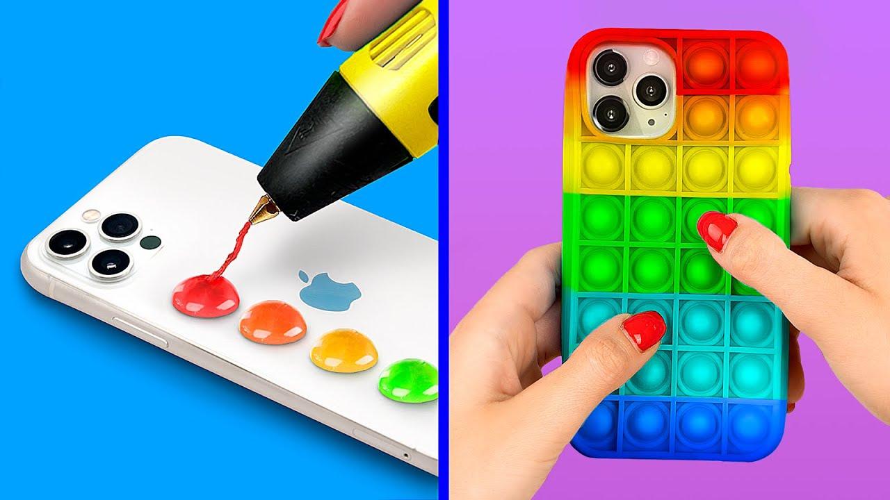 DIY Pop It Phone Case! Trendy TikTok Phone Case Ideas!