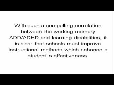Working Memory Training - Natural ADD Treatments