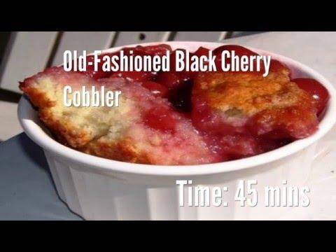 Old-Fashioned Black Cherry Cobbler Recipe
