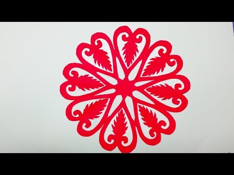 DIY paper cutting#How to make Easy & quick paper cutting Flower?Paper flower-easy craft.