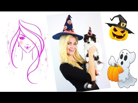 DIY Halloween | How to make a Witch Hat | DIY Crafts