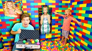LOCKED In GIANT Lego Escape ROOM JAIL!