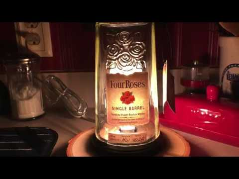 Four Roses bottle lamp