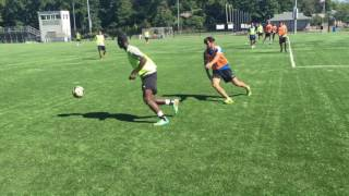 Soccer Team Defending
