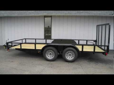 6x16 Tandem Axle Cargo Trailer with Rear Ramp Gate
