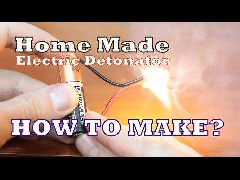 Home Made Electric Detonator - How to make with Matches?