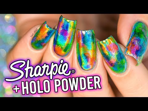 Sharpie Highlighter + Holo Chrome Mirror Powder! (You'll never be the same...)