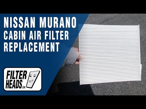 How to Replace Cabin Air Filter 2012 Nissan Murano