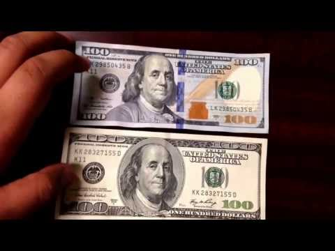 NEW 100 HUNDRED DOLLAR BILL REVIEW AND COMPARISON