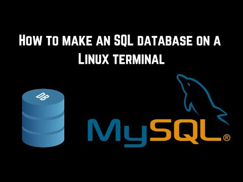 How to Create a MySQL Database on a Linux Terminal