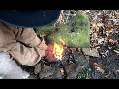 How To Make A Fire Using Flint Steel & Char Cloth - Primitive Fire - How To Make Char Cloth