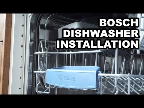 Video instructions for installing Bosch Built-in Dishwashers