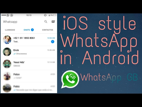How to install iOS WhatsApp easily in Android | iOS style WhatsApp in Android | WhatsApp GB