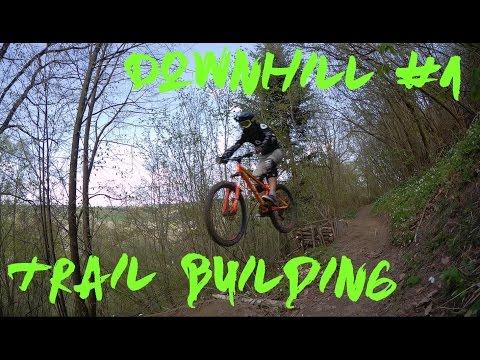 Downhill #1 / 2K17 / trail building / crash