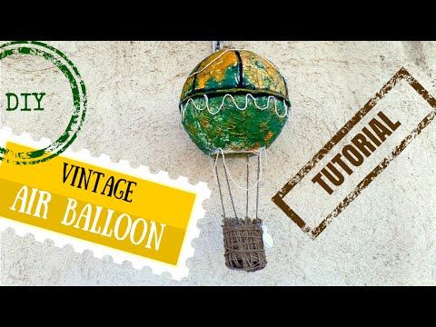 DIY Vintage Hot Air Balloon Decoration |Wedding Guest Book Idea | by Fluffy Hedgehog