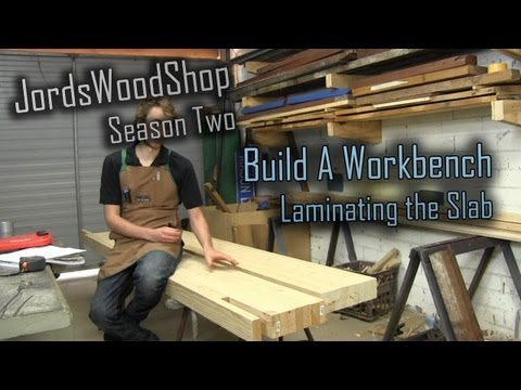 202: Build a solid workbench on a budget (split top roubo) -- Part 1 laminating the top