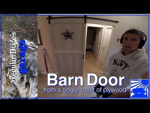 Barn Door from Single Sheet of Plywood