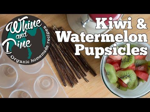 Kiwi Watermelon Pupsicle | Homemade Dog Popsicle