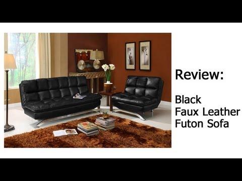 Black Faux Leather Futon Review