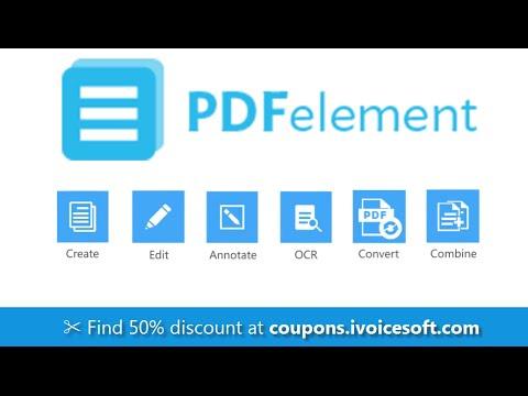 PDFelement (Coupon) - Easily create, edit, convert, Sign, OCR PDF files