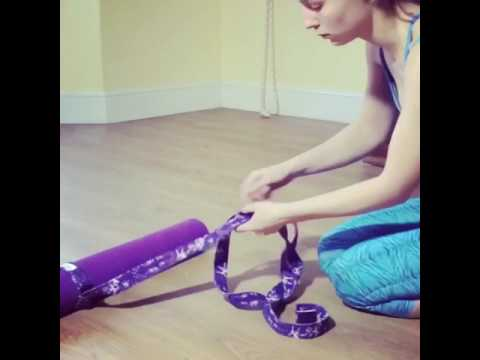 How to turn your yoga belt strap into a mat sling