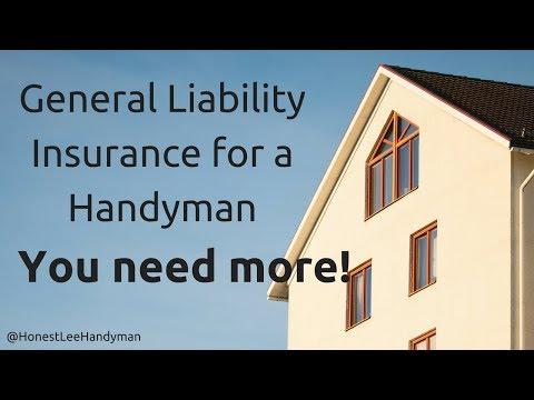 Handyman general liability insurance needs
