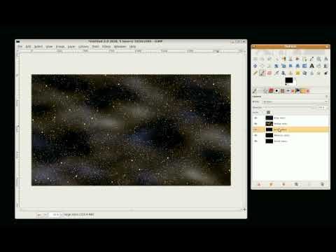 Gimp Tutorial - Background of stars Part 2