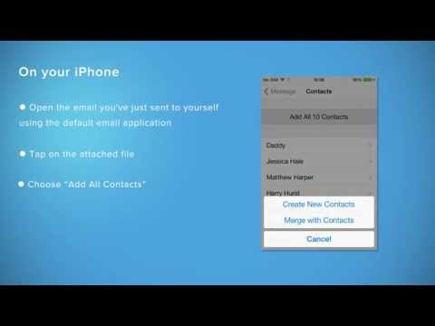 Recover lost or deleted contacts from iTunes or iCloud backups