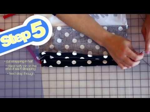 Drawstring Backpack Bag Tutorial