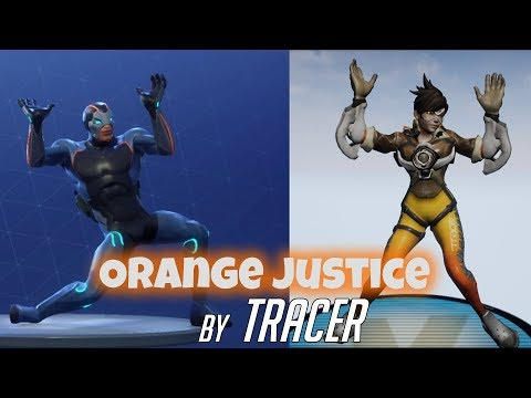Fortnite Orange Justice by Tracer from Overwatch