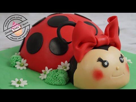 Marienkäfer Torte I Ladybird Cake I Marienkäfer Kuchen I Fondant Cake I Motivtorte