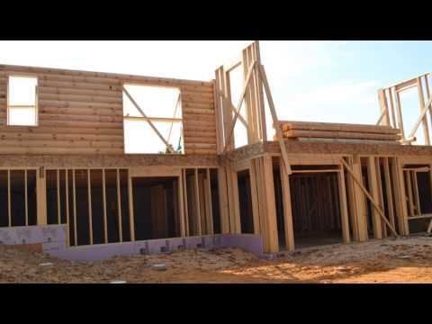 Building a log home part 5 Exterior walls