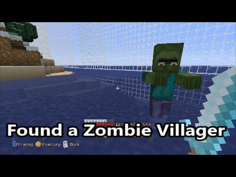 Minecraft Xbox 360 - We Found a Zombie Villager!