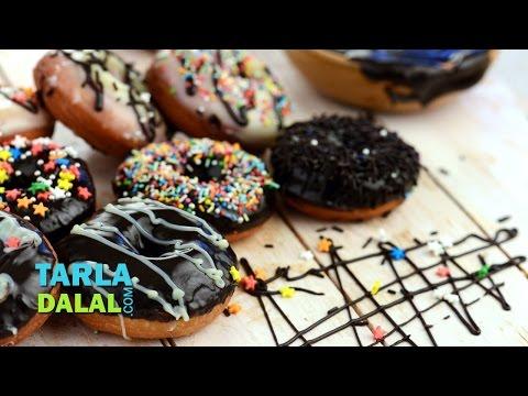 Chocolate Doughnuts by Tarla Dalal