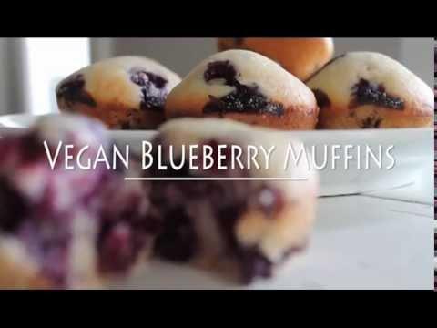 7-Ingredient Vegan Blueberry Muffins